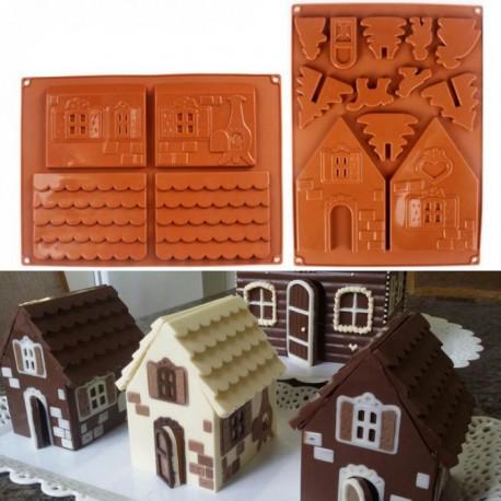 Форма 3D Пряничный домик